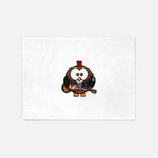Punk Rock Owl 5'x7'Area Rug