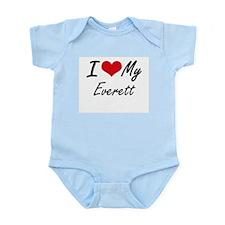I Love My Everett Body Suit