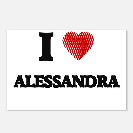 I Love Alessandra Postcards (Package of 8)