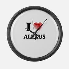 I Love Alexus Large Wall Clock