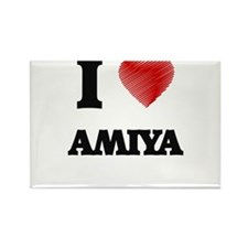 I Love Amiya Magnets