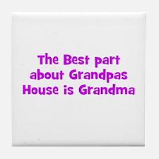 The Best part about Grandpas  Tile Coaster