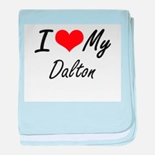 I Love My Dalton baby blanket
