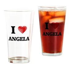 I Love Angela Drinking Glass