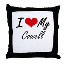 I Love My Cowell Throw Pillow