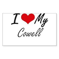 I Love My Cowell Decal
