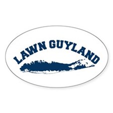 LAWN GUYLAND Oval Decal