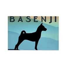 Blue Mountains Basenji Rectangle Magnet