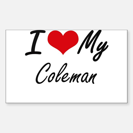 I Love My Coleman Decal