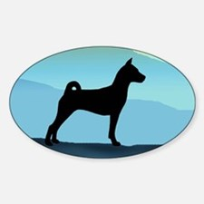 Blue Mountains Basenji Sticker (Oval)