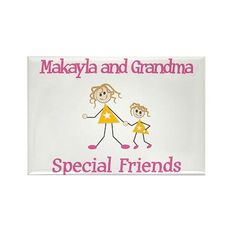 Makayla & Grandma - Friends Rectangle Magnet (10 p