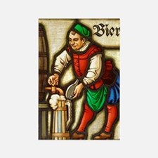 Bier Man Rectangle Magnet