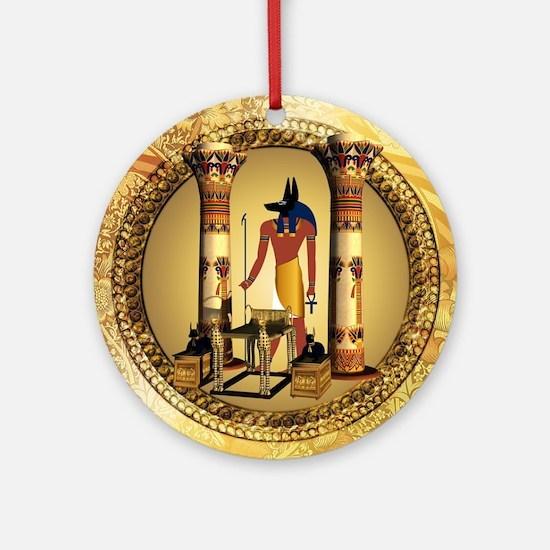 Anubis, Round Ornament