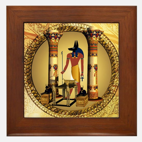 Anubis, Framed Tile