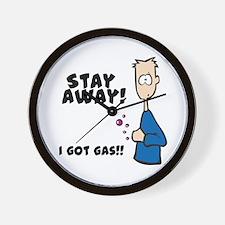 Stay Away I Got Gas Wall Clock
