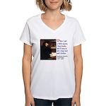 Erasmus on Buying Books Women's V-Neck T-Shirt