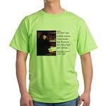 Erasmus on Buying Books Green T-Shirt