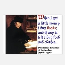 Erasmus on Buying Books Postcards (Package of 8)