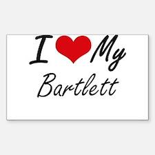 I Love My Bartlett Decal