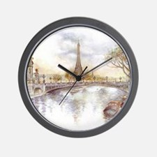 Eiffel Tower Painting Wall Clock