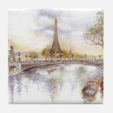 Eiffel Tower Painting Tile Coaster