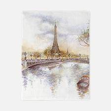 Eiffel Tower Painting Twin Duvet