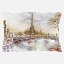 Eiffel Tower Painting Pillow Case
