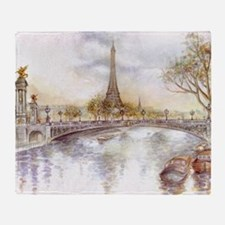 Eiffel Tower Painting Throw Blanket
