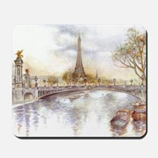 Eiffel Tower Painting Mousepad