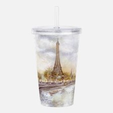 Eiffel Tower Painting Acrylic Double-wall Tumbler