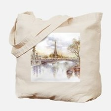 Eiffel Tower Painting Tote Bag