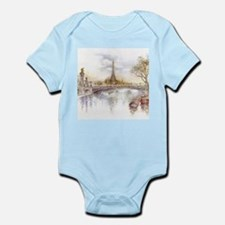 Eiffel Tower Painting Body Suit