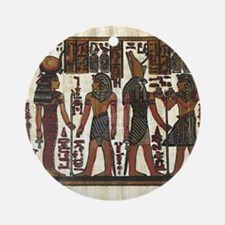 Ancient Egyptians Round Ornament