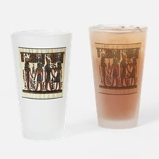 Ancient Egyptians Drinking Glass