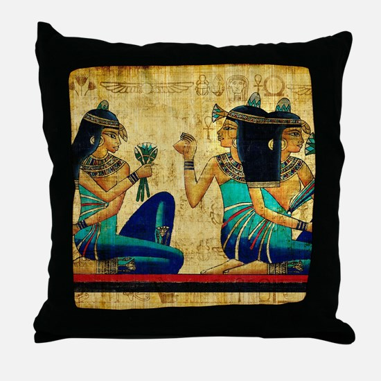 Egyptian Queens Throw Pillow