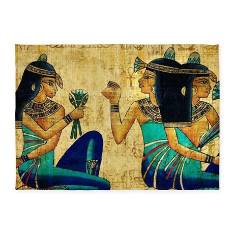 Egyptian Queens 5 X7 Area Rug By Wickeddesigns4