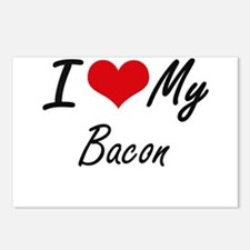 I Love My Bacon Postcards (Package of 8)
