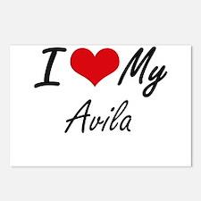 I Love My Avila Postcards (Package of 8)