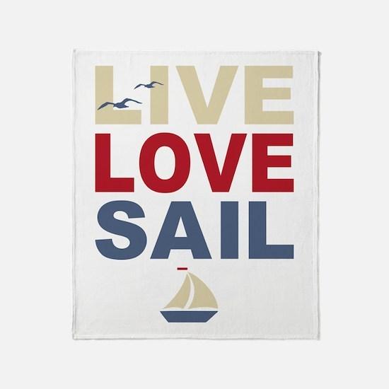Live Love Sail Throw Blanket