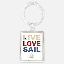 Live Love Sail Portrait Keychain