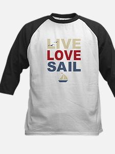 Live Love Sail Kids Baseball Jersey
