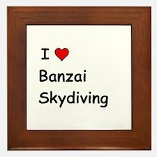I Love Banzai Skydiving Framed Tile