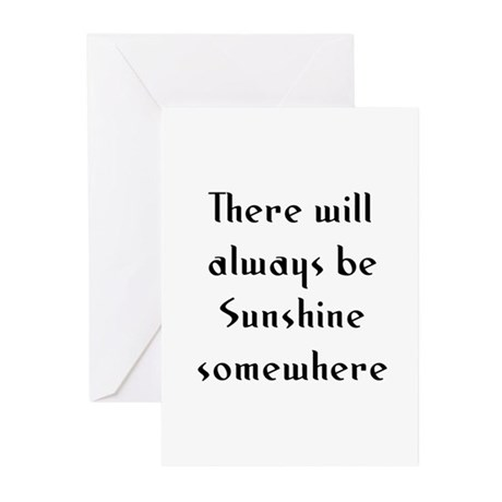 There will always be Sunshine Greeting Cards (Pk o
