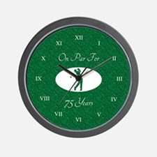 Golfer's 75th Birthday Wall Clock