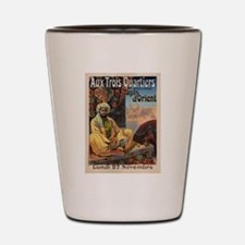 Vintage poster - Aux Trois Quartiers Shot Glass
