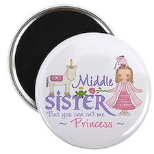 Unicorn Princess Middle Sister Magnet