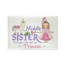 Unicorn Princess Middle Sister Rectangle Magnet (1