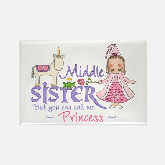 Unicorn Princess Middle Sister Rectangle Magnet