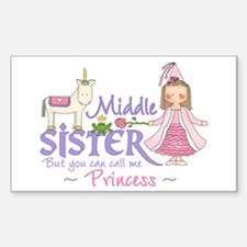 Unicorn Princess Middle Sister Sticker (Rectangula