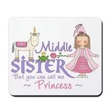 Unicorn Princess Middle Sister Mousepad